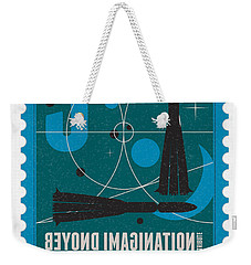 Starschips 03-poststamp - Vostok Weekender Tote Bag by Chungkong Art