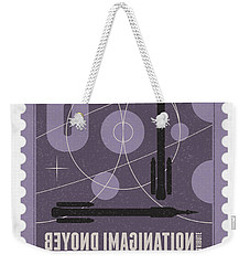 Starschips 08-poststamp - Shenzhou 5 Weekender Tote Bag by Chungkong Art