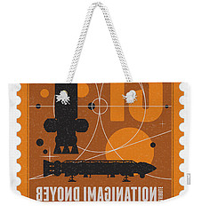 Starschips 13-poststamp - Space 1999 Weekender Tote Bag by Chungkong Art