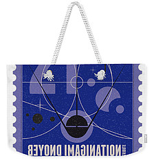 Starschips 21- Poststamp - Sputnik 2 Weekender Tote Bag by Chungkong Art