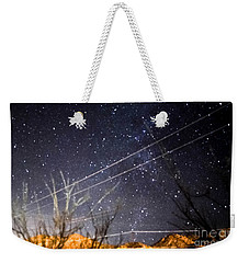 Stars Drunk On Lightpaint Weekender Tote Bag by Angela J Wright