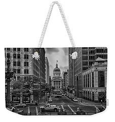 Weekender Tote Bag featuring the photograph State Capitol Building by Howard Salmon