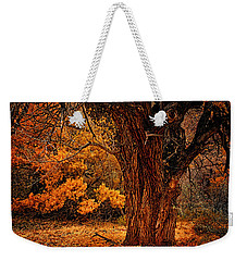 Weekender Tote Bag featuring the photograph Stately Oak by Priscilla Burgers