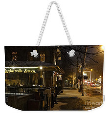 Station In Snow Weekender Tote Bag