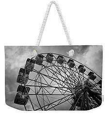Weekender Tote Bag featuring the photograph Stationary In The Morning by Ben Shields