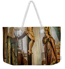 Weekender Tote Bag featuring the photograph Statue Of Jesus by Adrian Evans