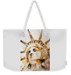 Statue Of Liberty Closeup Weekender Tote Bag