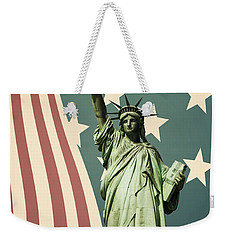 Statue Of Liberty Weekender Tote Bag by Juli Scalzi
