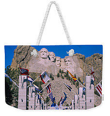 Statues On A Mountain, Mt Rushmore, Mt Weekender Tote Bag by Panoramic Images