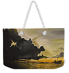 Staying Ahead Of The Storm Weekender Tote Bag by Donna Blossom