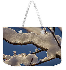 Weekender Tote Bag featuring the photograph Staying Warm by Steven Santamour