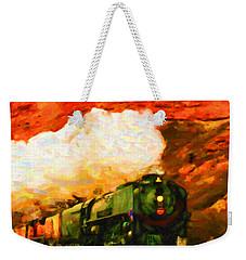 Steam And Sandstone Weekender Tote Bag