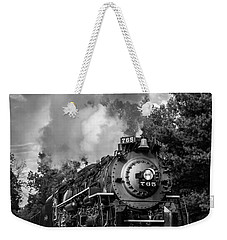 Steam On The Rails Weekender Tote Bag by Dale Kincaid