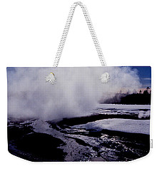 Weekender Tote Bag featuring the photograph Steam by Sharon Elliott