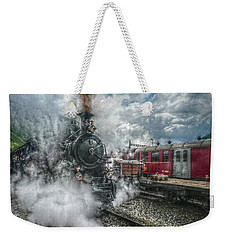 Weekender Tote Bag featuring the photograph Steam Train by Hanny Heim