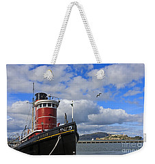 Weekender Tote Bag featuring the photograph Steam Tug Hercules by Kate Brown