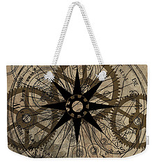 Steampunk Gold Gears II  Weekender Tote Bag by James Christopher Hill