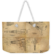 Steampunk Raygun Weekender Tote Bag by James Christopher Hill