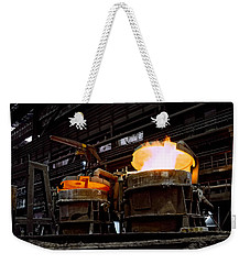 Steel Industry In Smederevo. Serbia Weekender Tote Bag