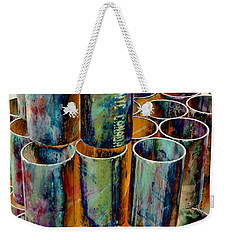 Steel Pipes Weekender Tote Bag