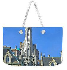 Steeple Of Grace Episcopal Church Nyc Weekender Tote Bag