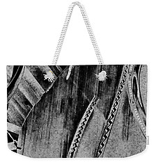 Steinway Black And White Inners Weekender Tote Bag