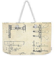 1885 Steinway Piano Pedal Patent Art Weekender Tote Bag by Gary Bodnar