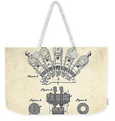 1880 Steinway Screw Clamp Patent Art Weekender Tote Bag by Gary Bodnar