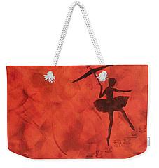 Stencil Ballerina Weekender Tote Bag