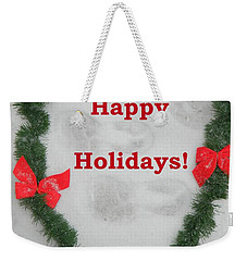 Weekender Tote Bag featuring the photograph Stepping Into The Holidays by Emmy Marie Vickers