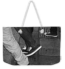 Weekender Tote Bag featuring the photograph Stepping Out by Clare Bevan