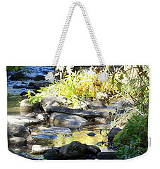Weekender Tote Bag featuring the photograph Stepping Stones by Sheri Keith
