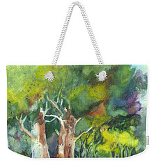 Weekender Tote Bag featuring the painting Sterling Forest by Carol Wisniewski
