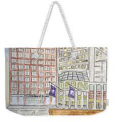 Nyu Stern School Of Business Weekender Tote Bag by AFineLyne