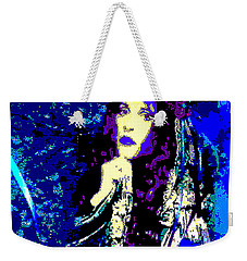 Stevie Nicks In Blue Weekender Tote Bag