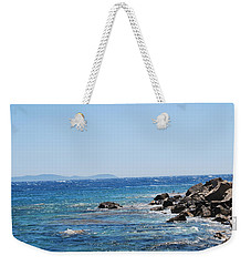 Weekender Tote Bag featuring the photograph Stiff Breeze by George Katechis
