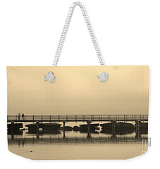 Weekender Tote Bag featuring the photograph Still Lake by Clare Bevan