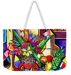 Still Life Fruit And Floral Weekender Tote Bag