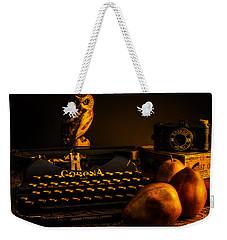 Still Life - Pears And Typewriter Weekender Tote Bag