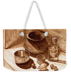 Still Life Walnut Ink Weekender Tote Bag
