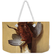 Still Life With A Hare, A Pheasant And A Red Partridge Weekender Tote Bag by Jean-Baptiste Oudry