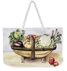 Still Life With A Trug Of Vegetables Weekender Tote Bag by Alison Cooper
