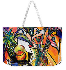 Still Life With Fruit And Calla Lilies Weekender Tote Bag