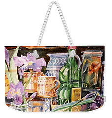 Still Life With Irises Weekender Tote Bag