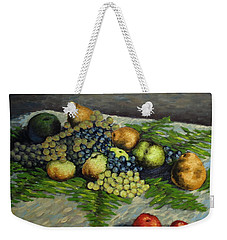 Still Life With Pears And Grapes Weekender Tote Bag