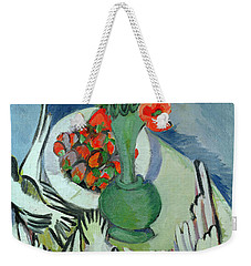 Still Life With Seagulls Poppies And Strawberries Weekender Tote Bag by Ernst Ludwig Kirchner