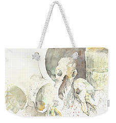 Still Life With Skulls Weekender Tote Bag by Melinda Dare Benfield