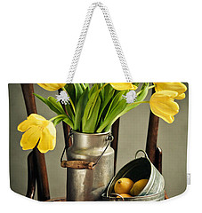 Still Life With Yellow Tulips Weekender Tote Bag by Nailia Schwarz