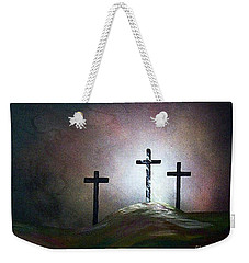 Weekender Tote Bag featuring the painting Still The Light by Eloise Schneider