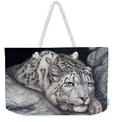 Weekender Tote Bag featuring the painting Stillnes Like A Stone by Pat Erickson